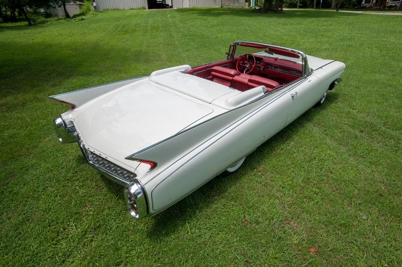 1960 Cadillac Eldorado Biarritz Convertible Rear View With Top Down