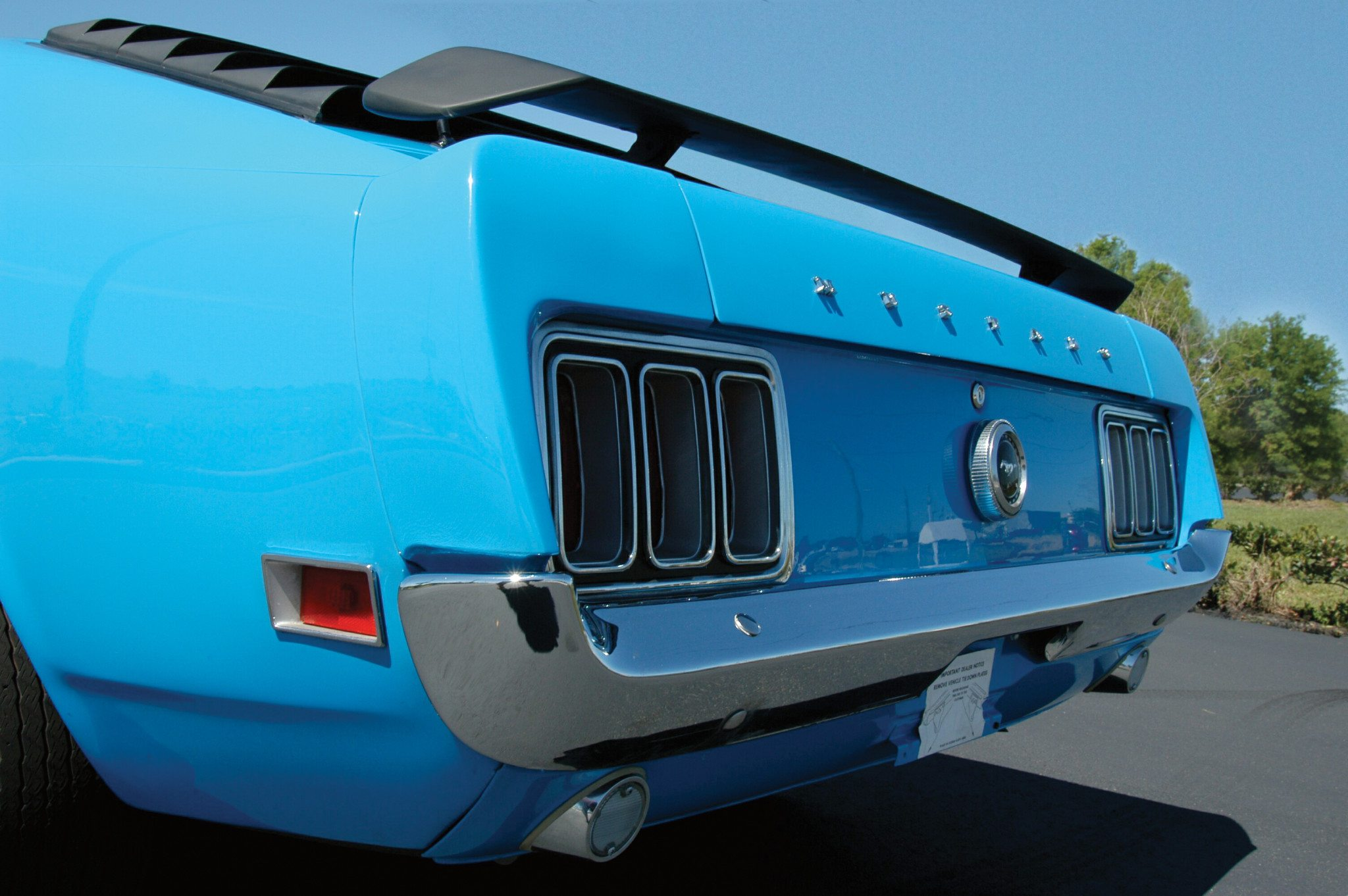 Boss 429 Mustang Rear View