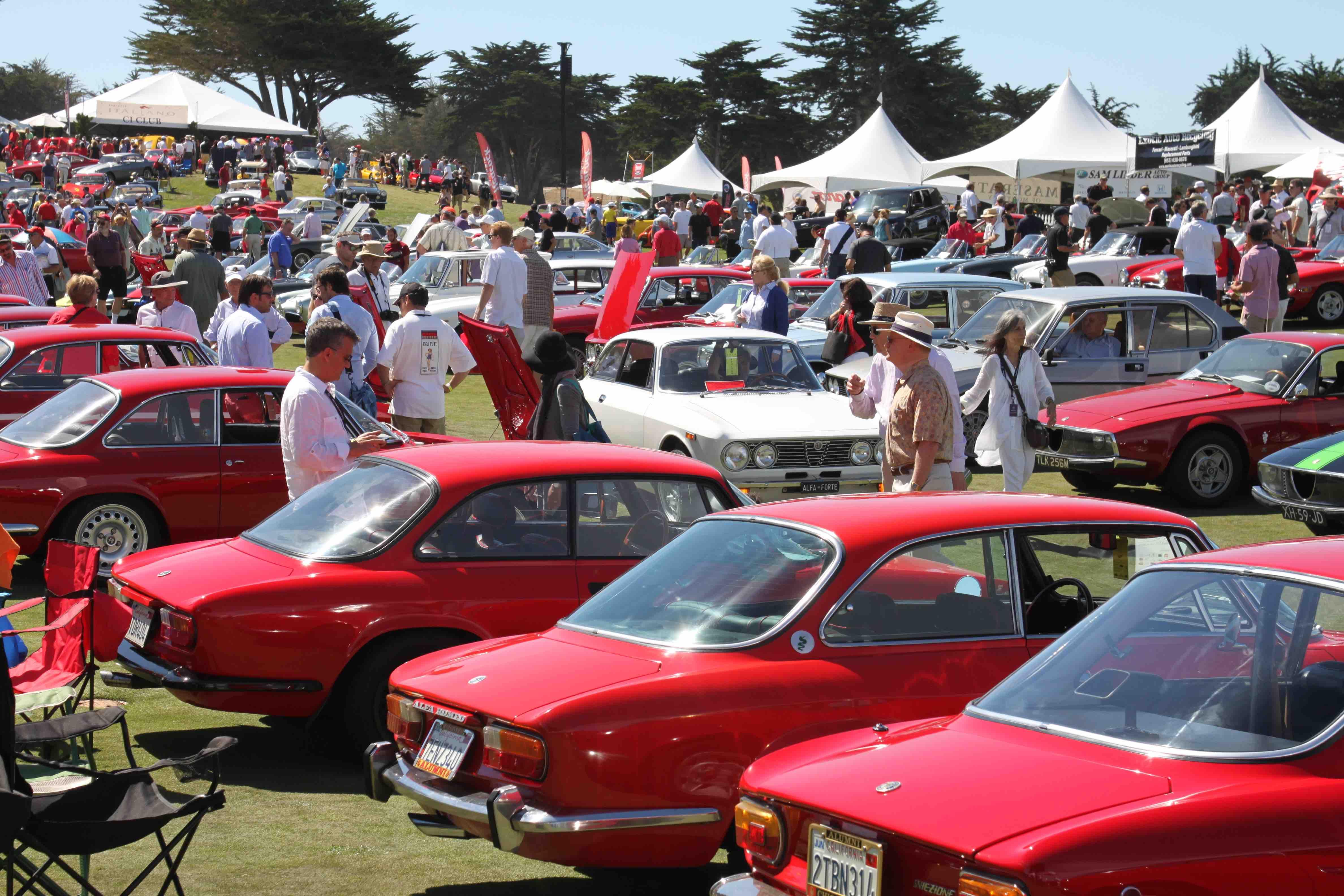 Classic Alfa Romeo's at Car Show Italiano
