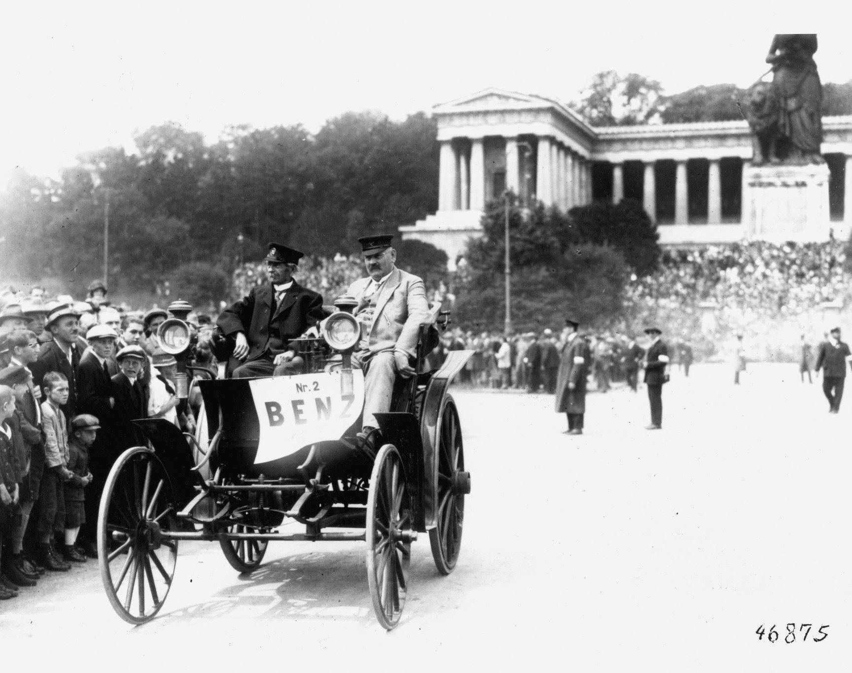 Carl Benz in 1892 Benz Victoria