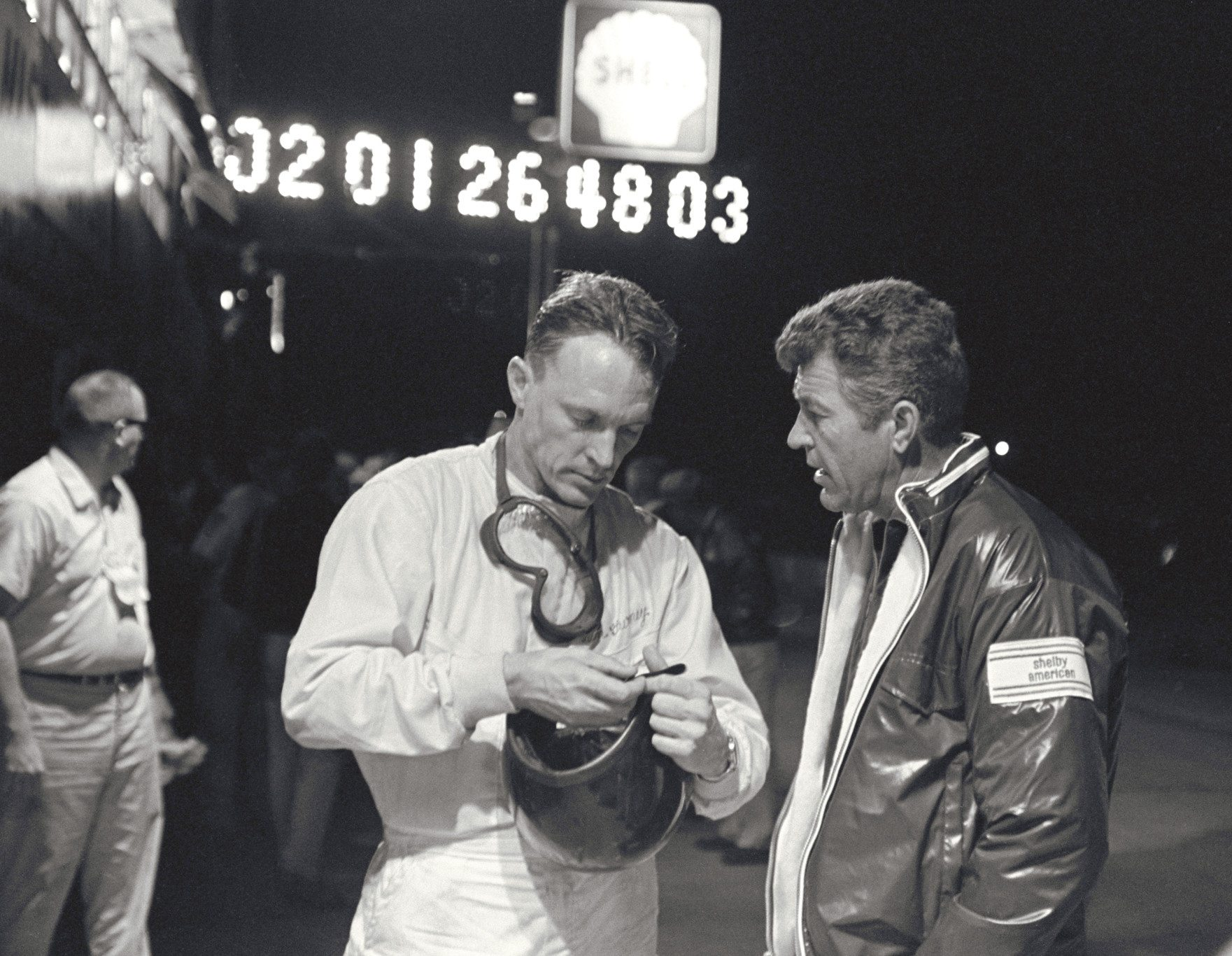Carol Shelby and Dan Gurney at Sebring Ford Archives