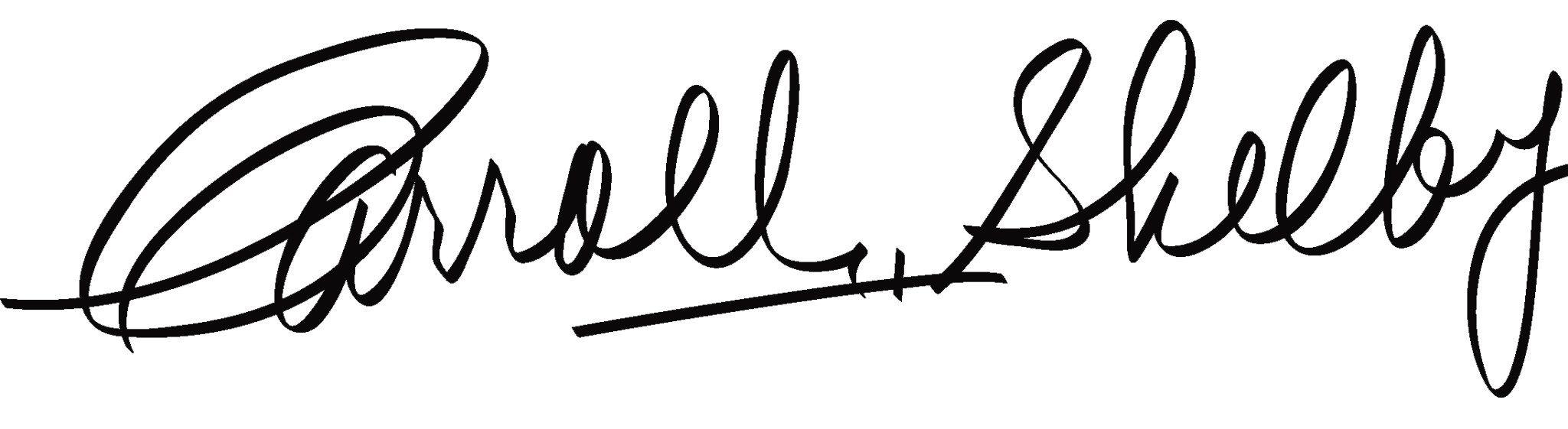Carroll Shelby Signature