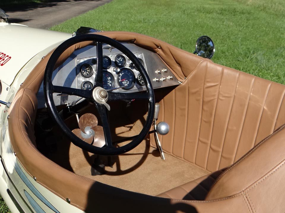 1929 Ford Model A Speedster very small two seater interior