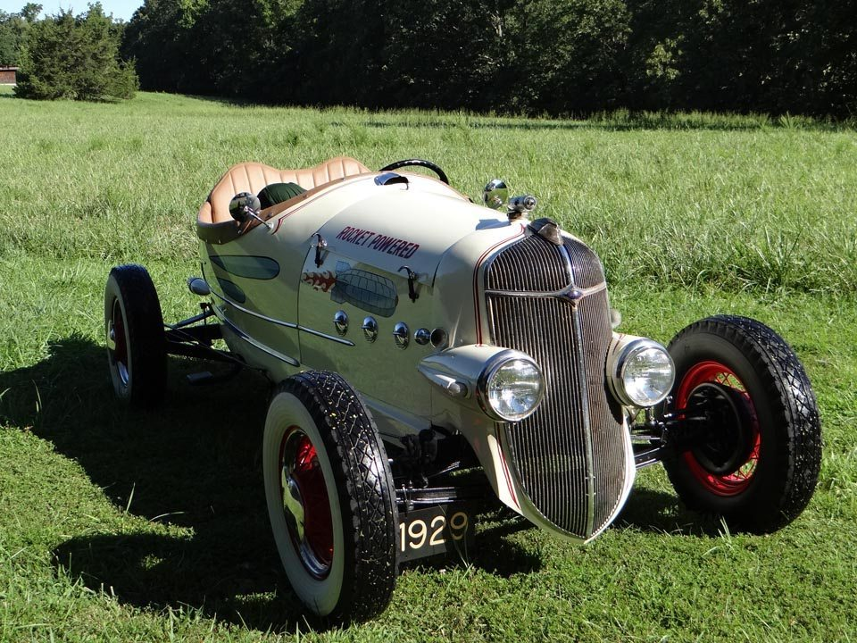 1929 Ford Model A Speedster front view of grill