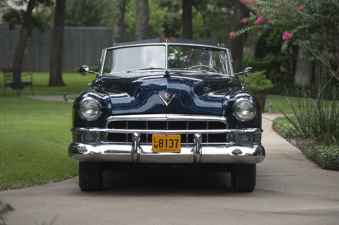 1949 Cadillac Series 62 Convertible Coupe Front View and Grill