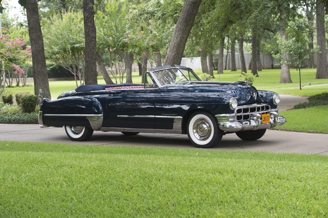1949 Cadillac Series 62 Convertible Coupe Top Down