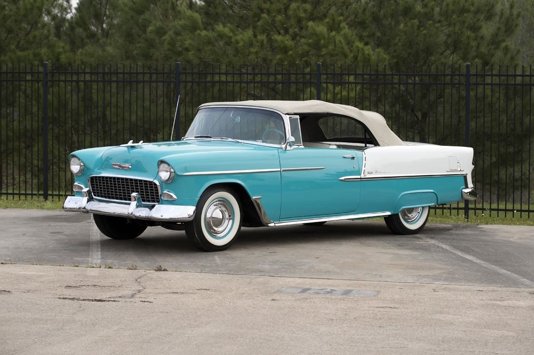 1955 Chevrolet Bel Air Convertible Top Up