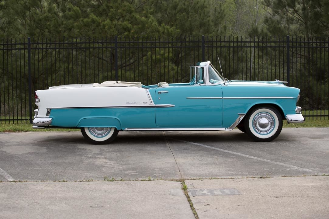 1955 Chevrolet Bel Air Convertible Side Top Down