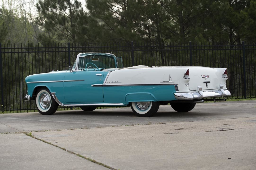 1955 Chevrolet Bel Air Convertible Side Rear