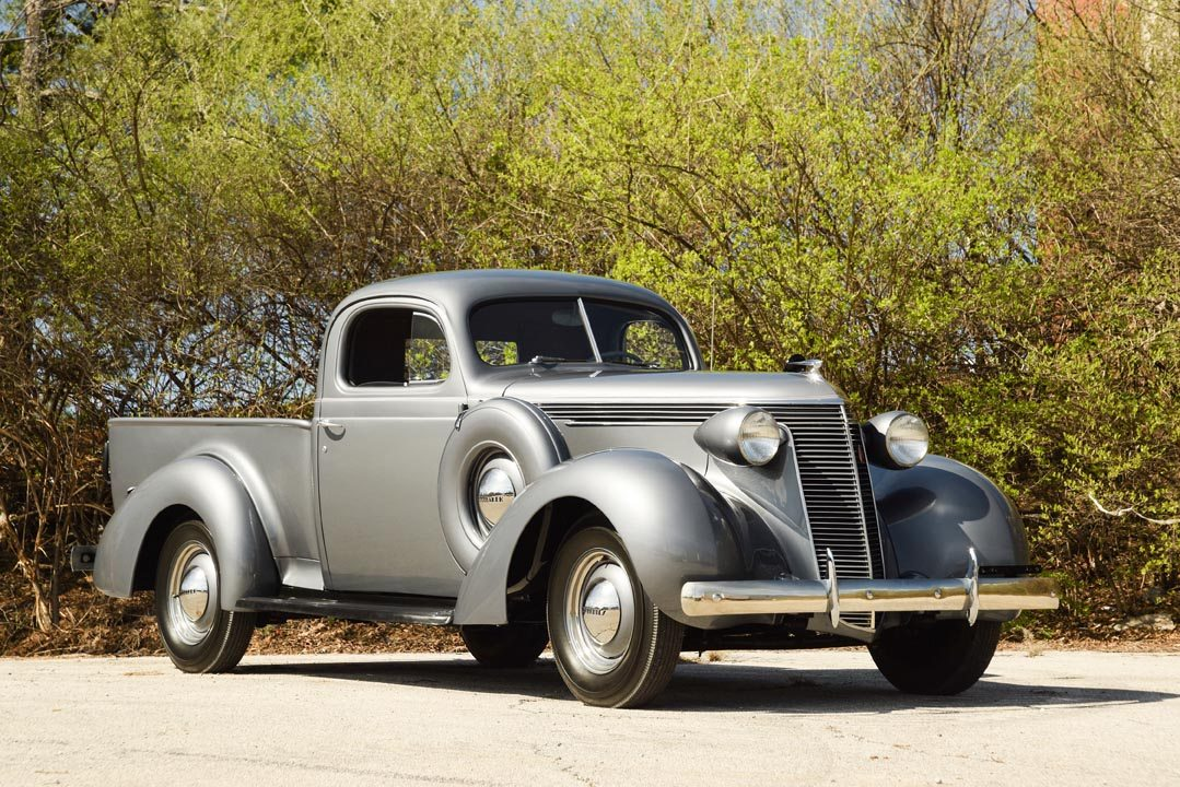 1937 Studebaker Coupe Express Truck in Silver