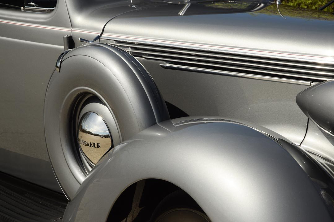 1937 Studebaker Coupe Express Truck Fender and Spare Wheel Closeup