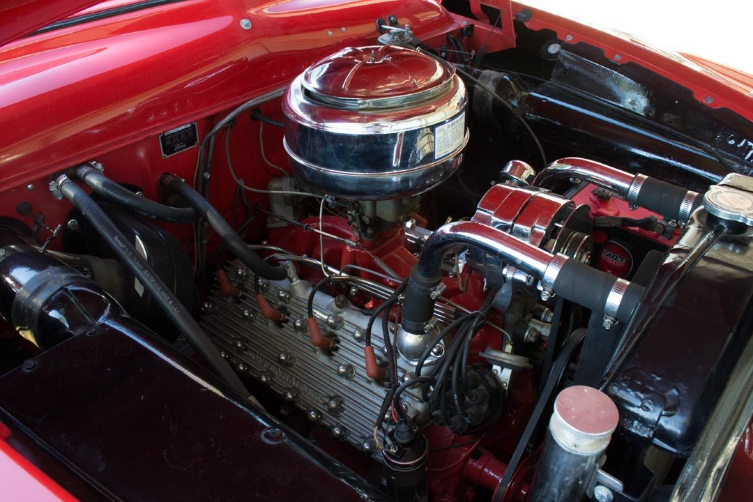 1950 Ford Custom Deluxe Convertible spotless engine