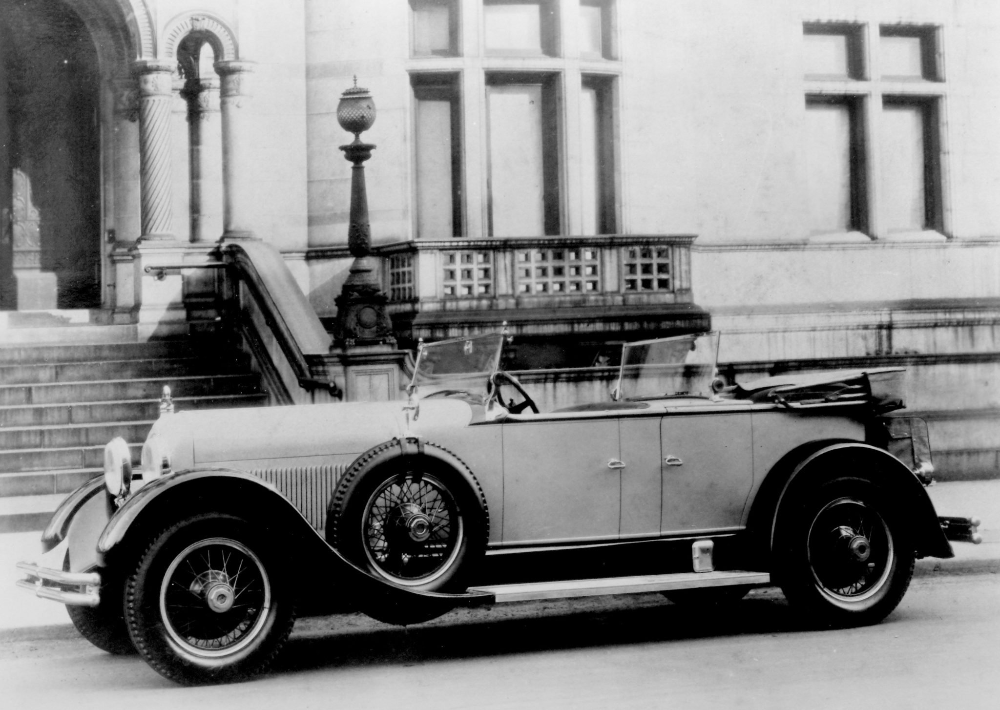 Among the leading coachbuilders for the Duesenberg Model A was Locke & Co. of New York. Although formal vehicles were Locke's forte, this sporty dual-cowl phaeton was built on the 134-inch chassis in 1927, very near the end of the model's production.