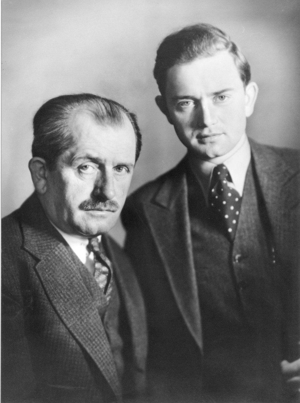 Ferdinand Porsche and his son Ferry Porsche