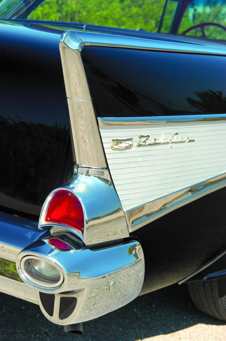 1957 Chevy Belair rear fin