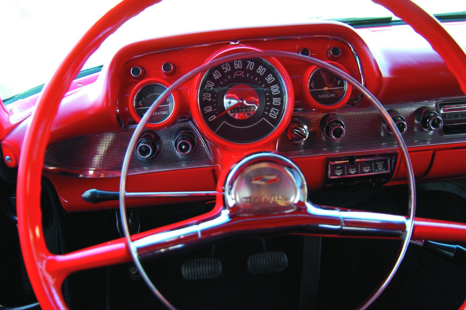 1957 Chevy Interior Dashboard and Wheel