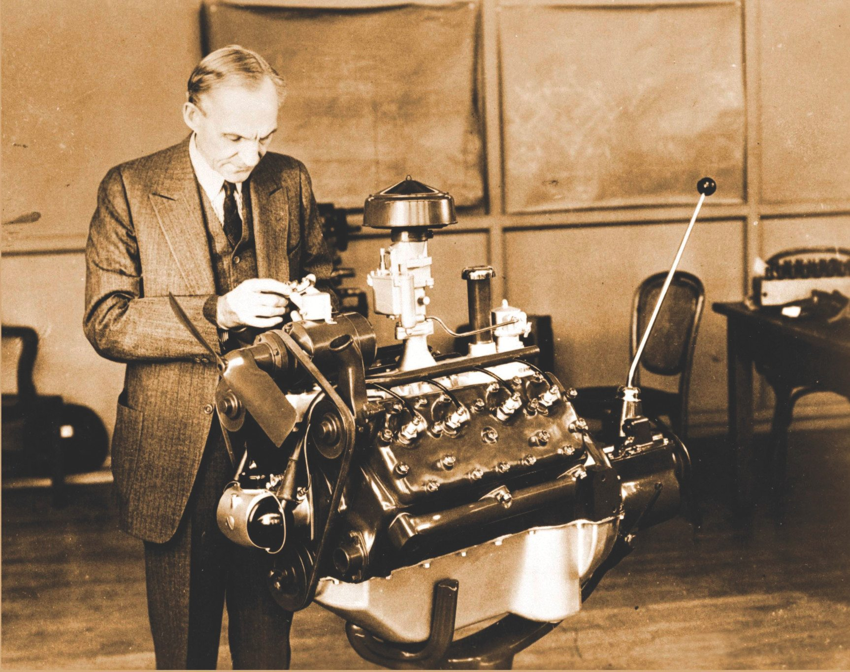 Henry Ford and his 1932 flathead v8