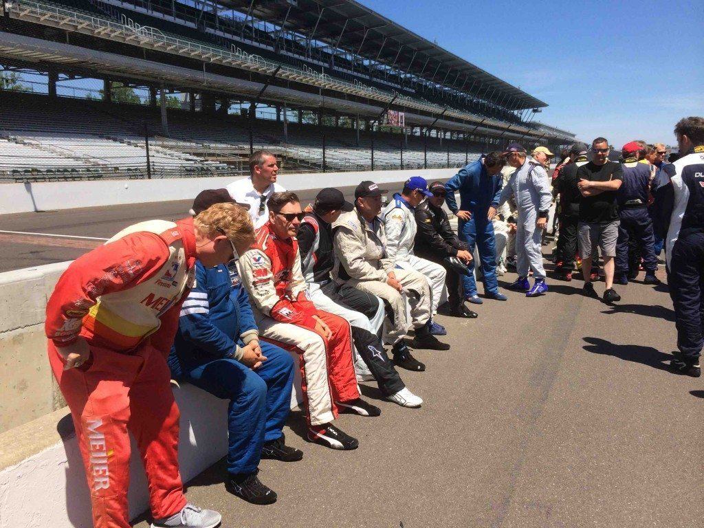Indy Pro Am wall driver's lined up