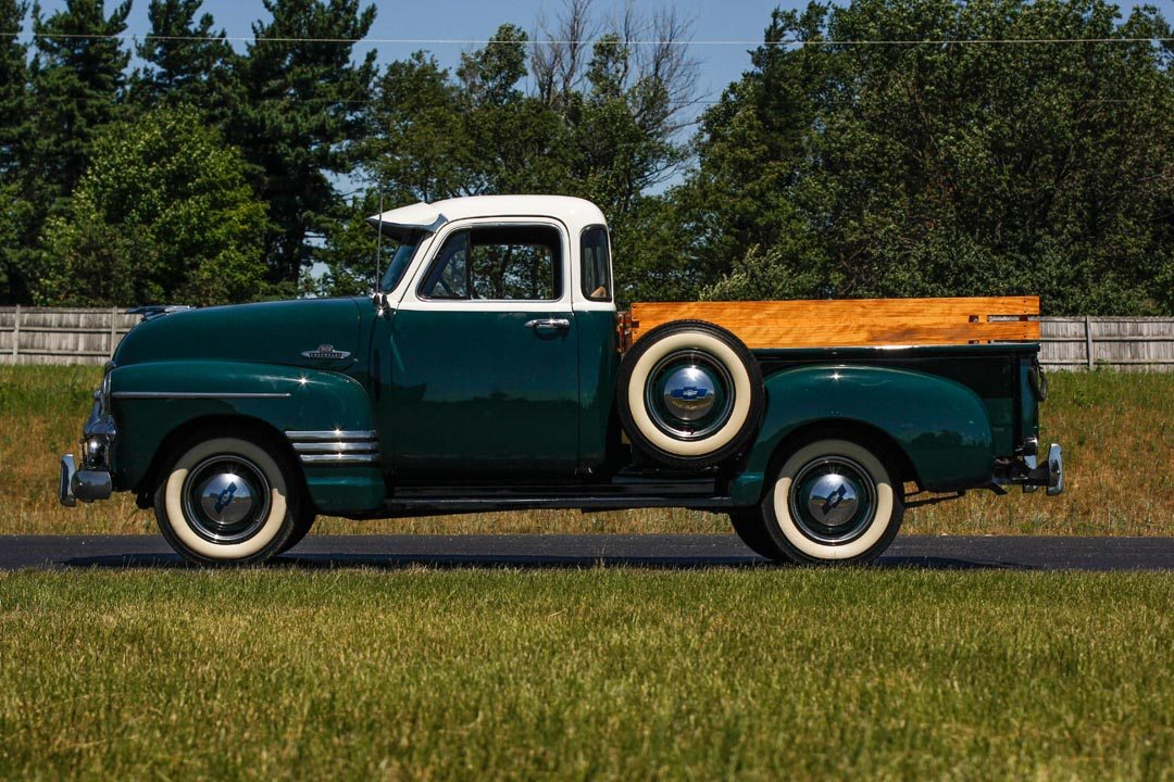 1955 Chevrolet 3100 5-Window Pickup Truck From the Side