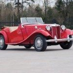 1950 MG TD Roadster Roof Down
