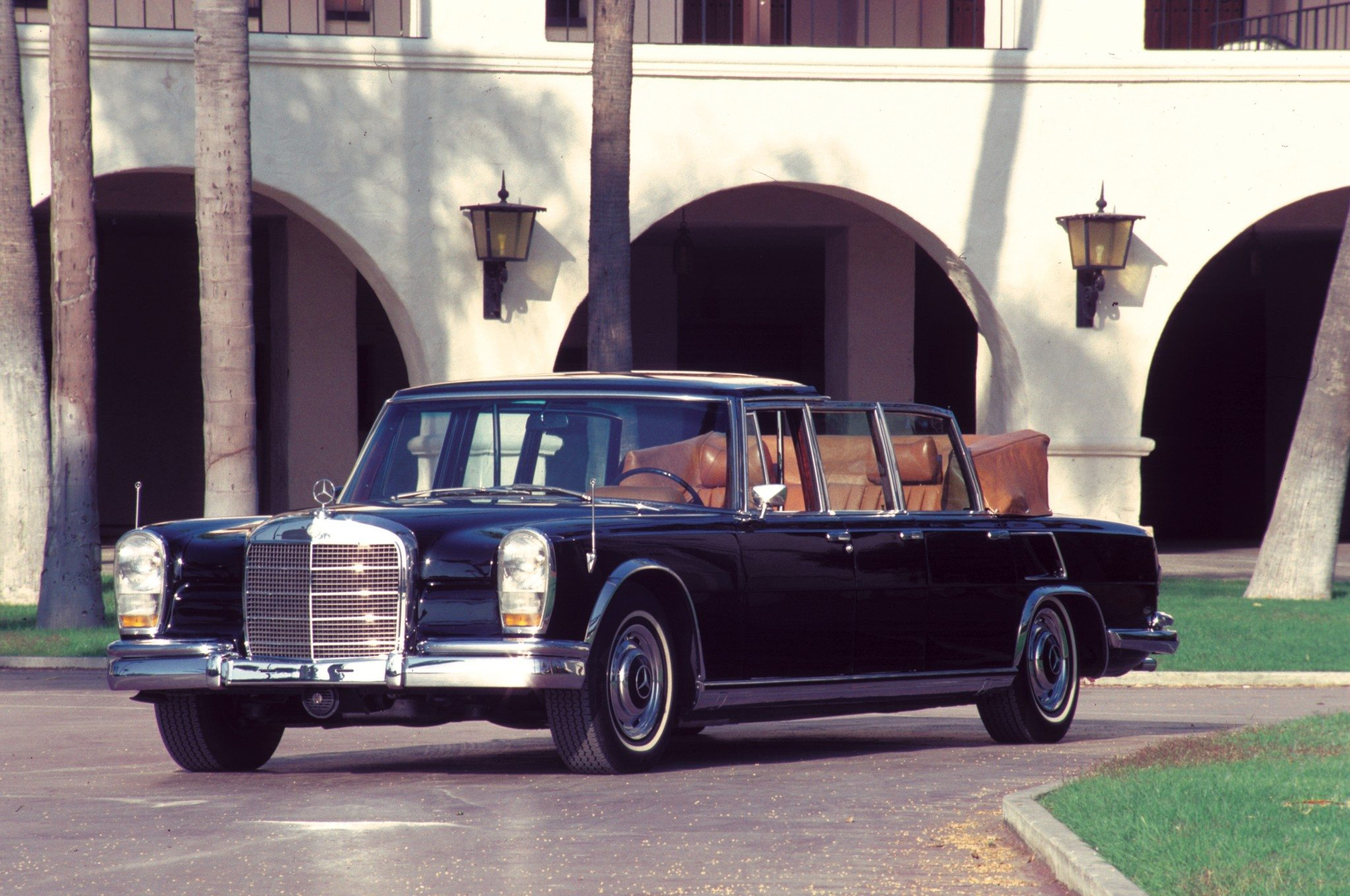 The Mighty Mercedes Benz 600 Series on antique muscle cars