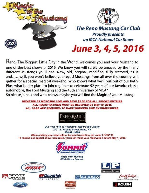 Mustang Reno flyer 2016