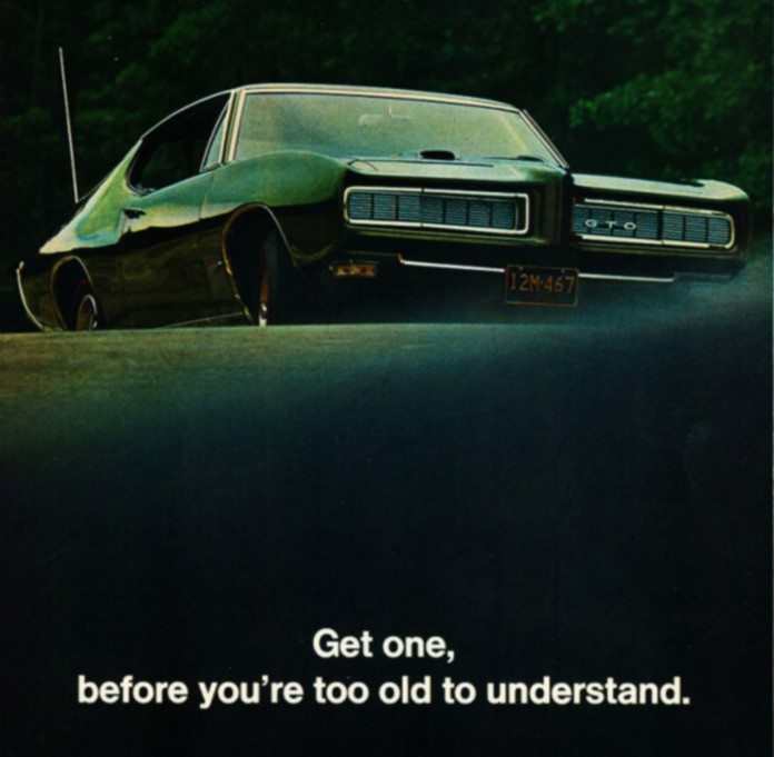 Magazine ad for Pontiac 1968 GTO