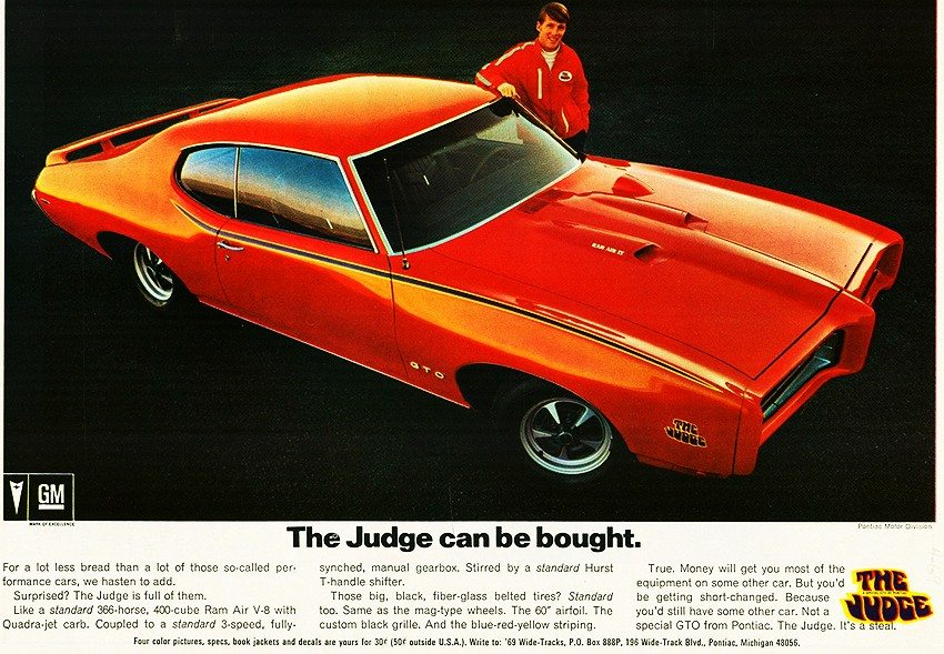Image result for 1969 gto judge ad