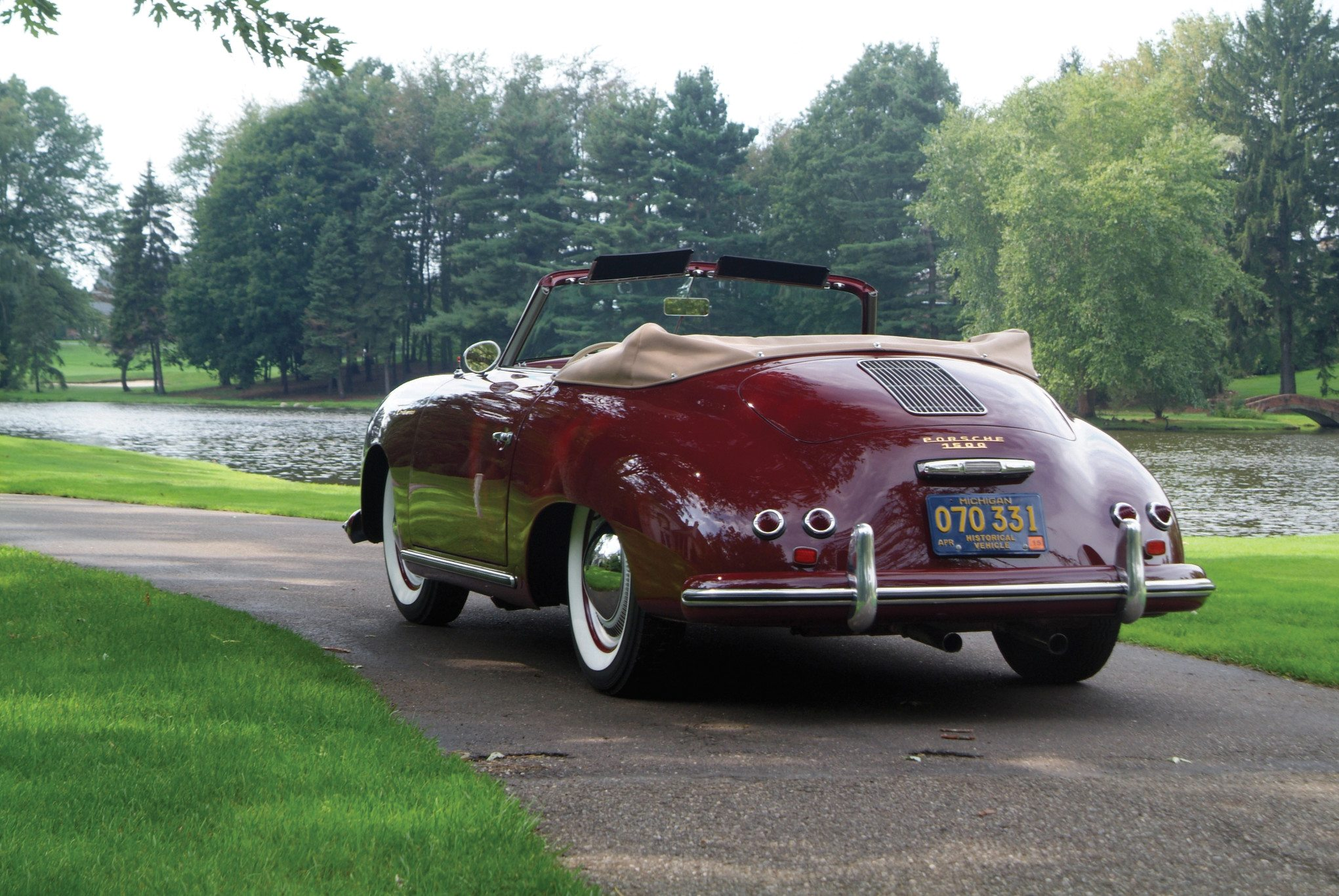 Porsche 356 Continental Rear View