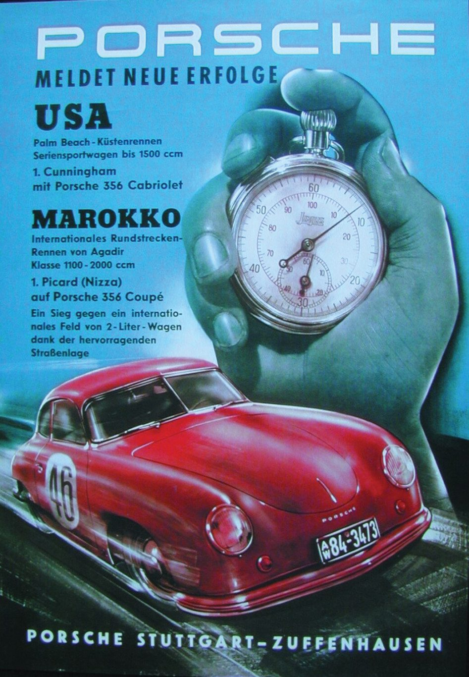 Porsche 356 Poster Palm Beach races