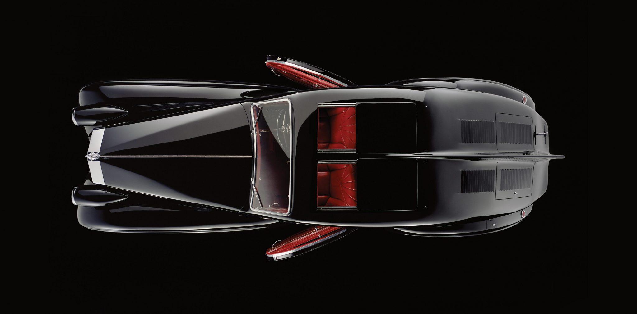 Rolls-Royce Phantom 1 Jonckheere Coupe Top Down View