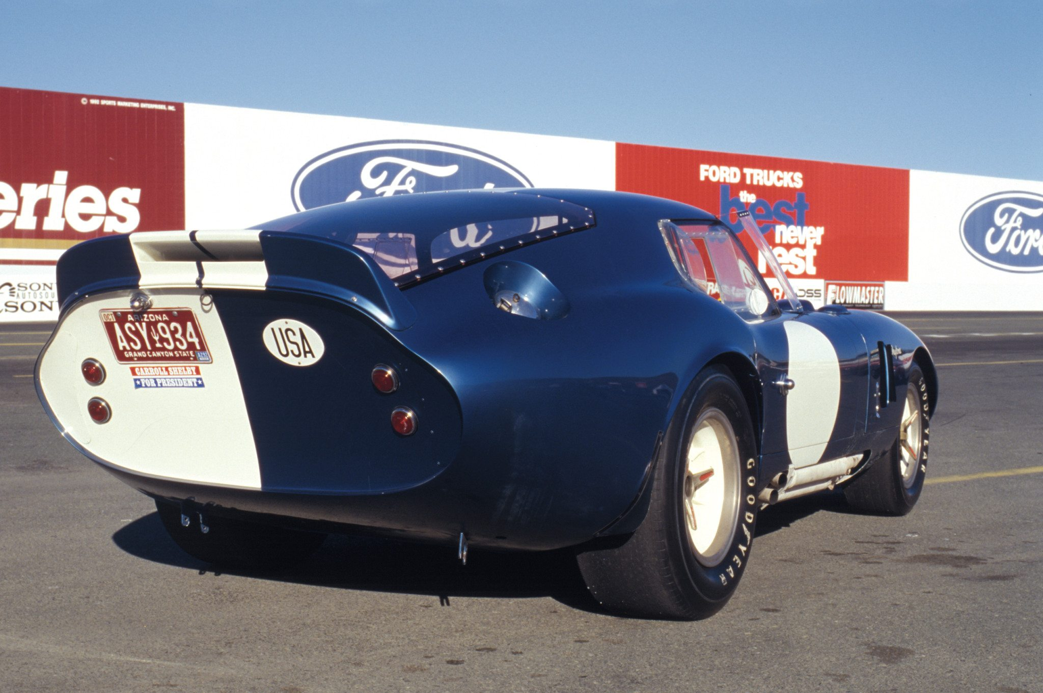Shelby Daytona Coupe Rear Quarter View