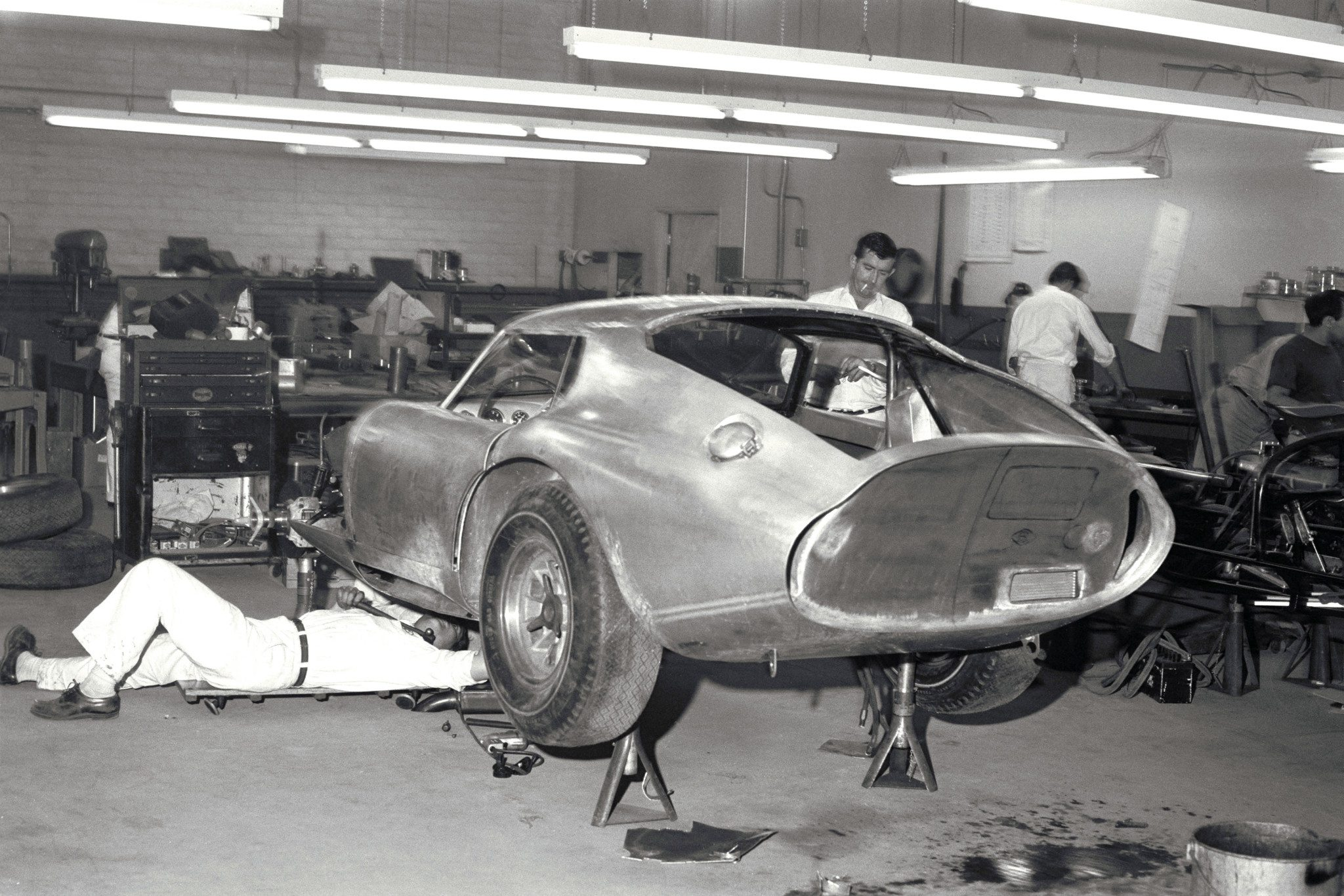 Shelby Daytona Coupe in the Shelby American Shop