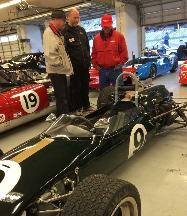 Sportscar Vintage Racing Association Car in the Garage