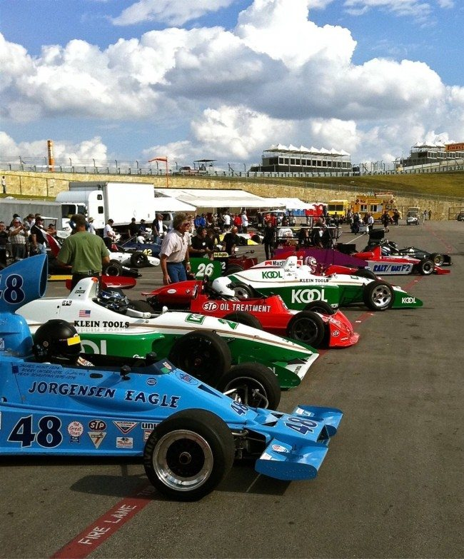 Sportscar Vintage Racing Association Cars Pre-start