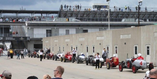 Sportscar Vintage Racing Association Cars Ready to Start