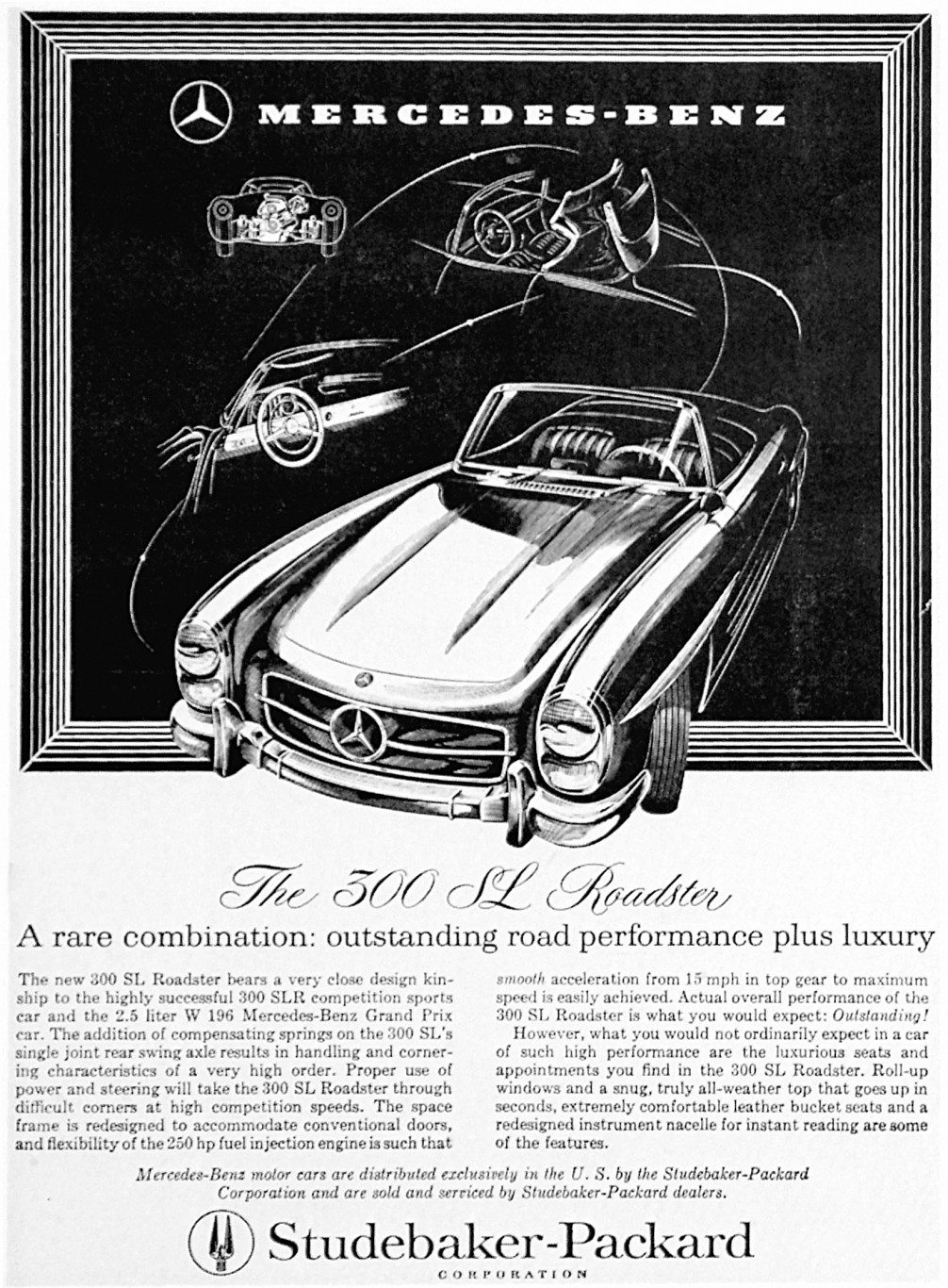 Studebaker-Packard dealership 300sl ad