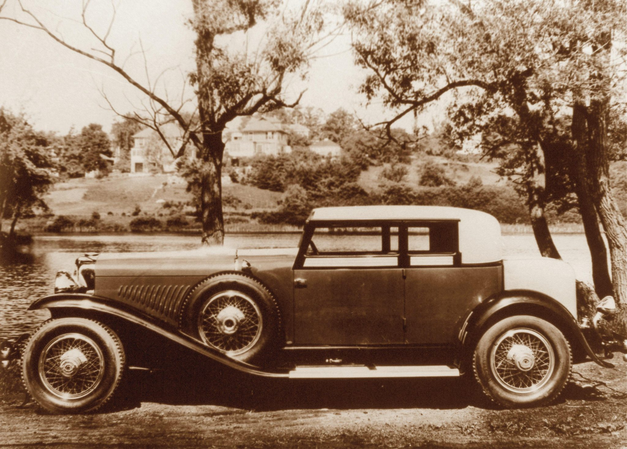 Another fascinating design from the pen of Gordon Buehrig was the Judkins Victoria coupe. This sporty model was a four-passenger car with the look of a convertible Victoria and a large rear seating area. This is car 2375, J-354 photographed when it was new (1932) and today in its beautifully restored condition by owner Frank Kleptz. Judkins built two cars, J-333 and J-352. They sold for $14,750 in 1932.