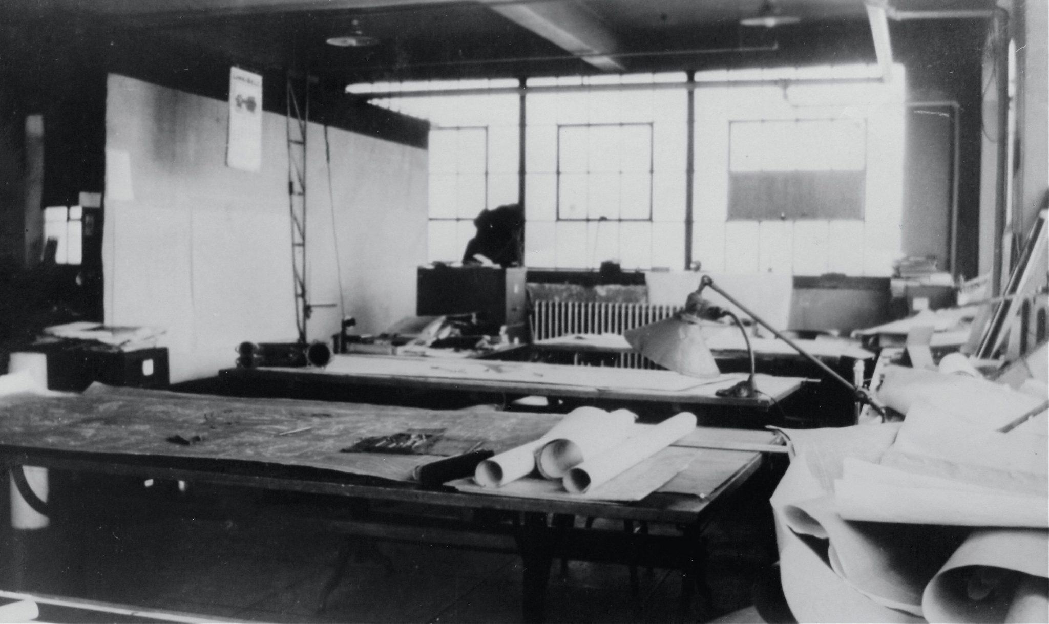 The Duesenberg facilities in Indianapolis provided for everything. This is the drafting room used by Fred Duesenberg and the engineering staff at various times. It was here that Fred would layout the design for the Model J in 1928.