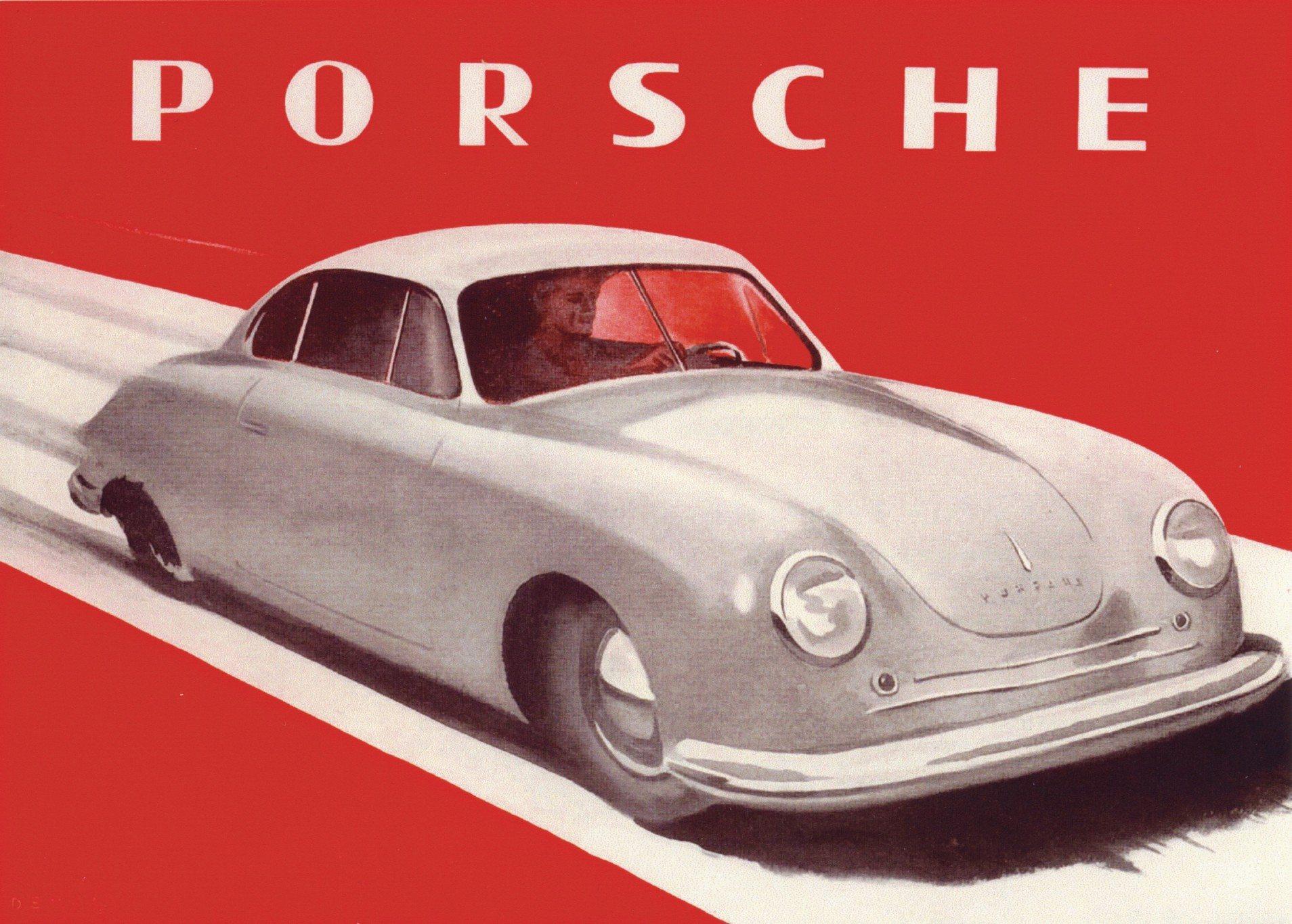 first Porsche sales brochure in 1948 1