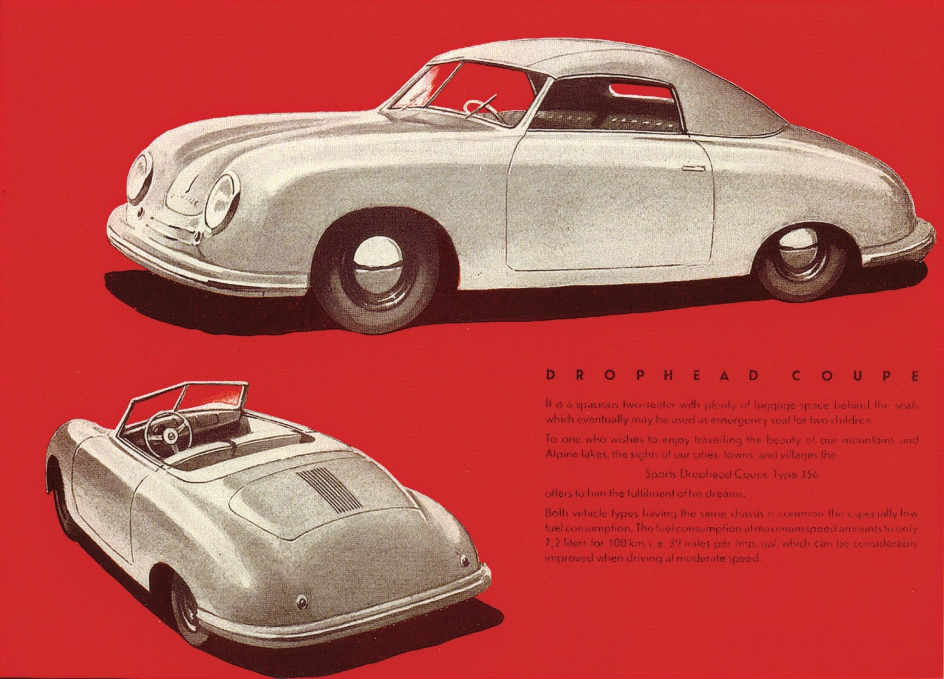 first Porsche sales brochure in 1948 2