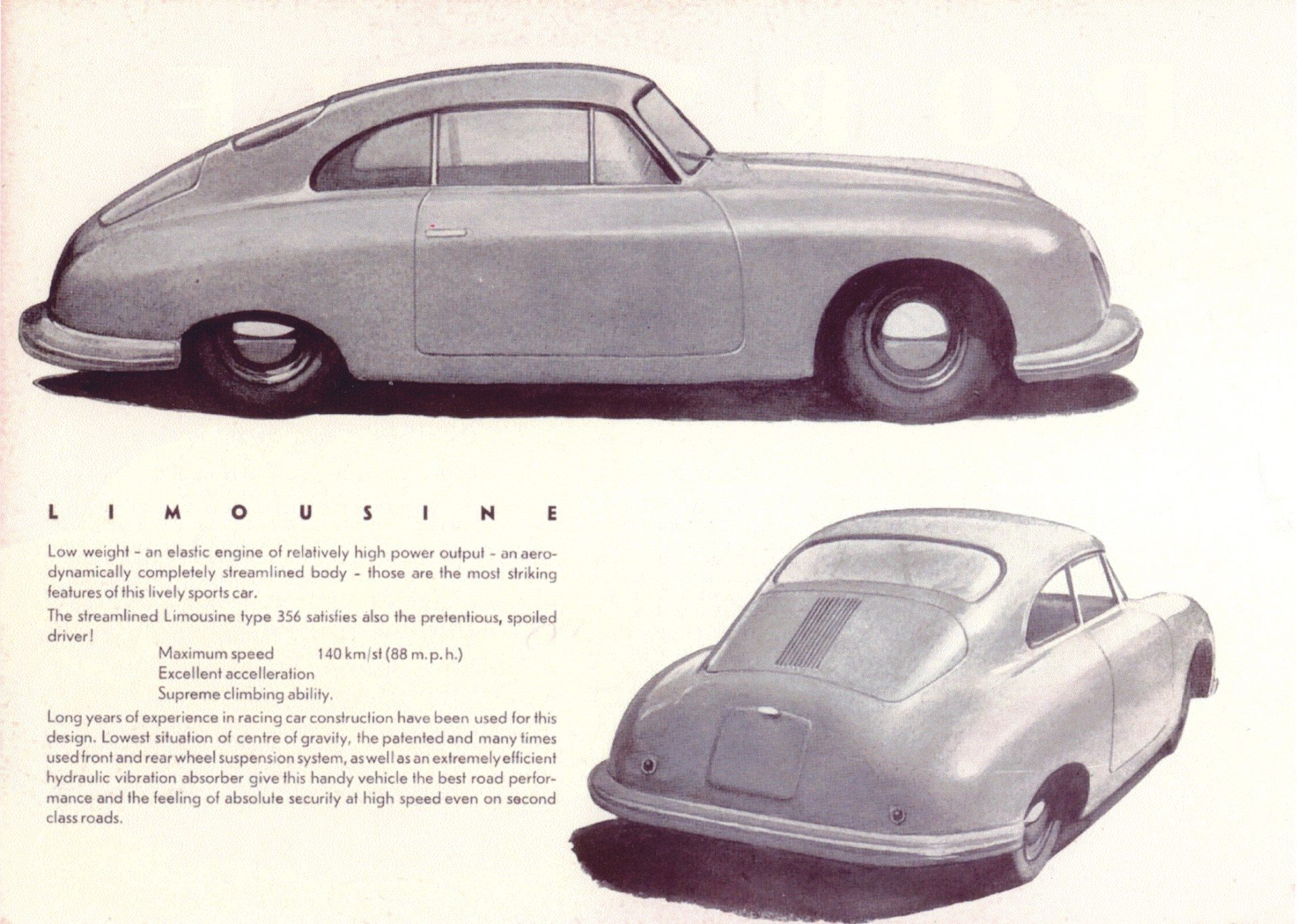 first Porsche sales brochure in 1948 3