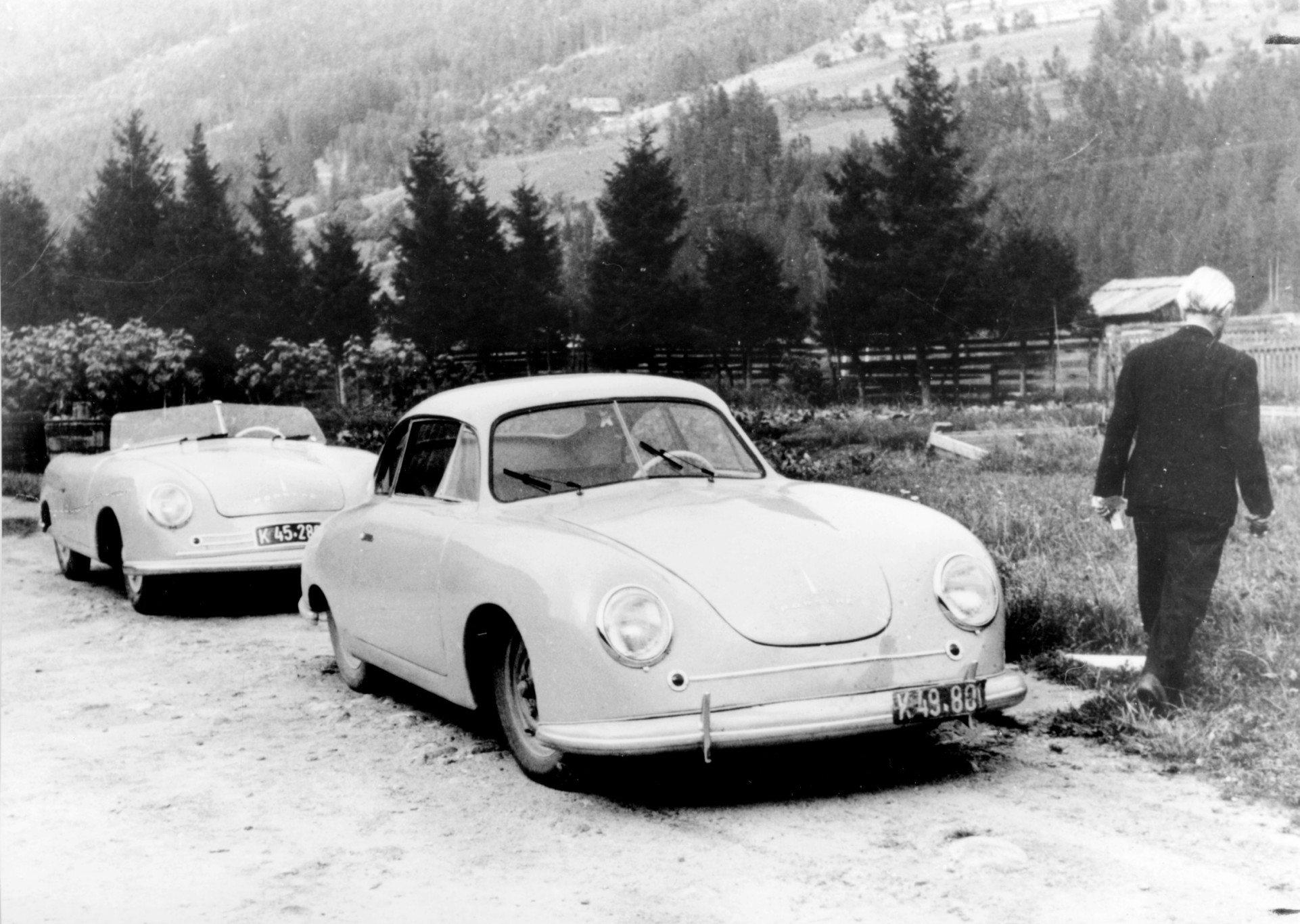 original Porsche 356-1 and 356-2