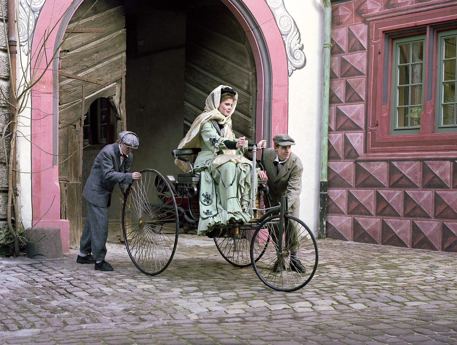 recreation of Bertha Benz's historic drive